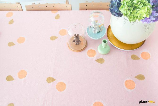 DIY Block print tablecloth - Planet Fur