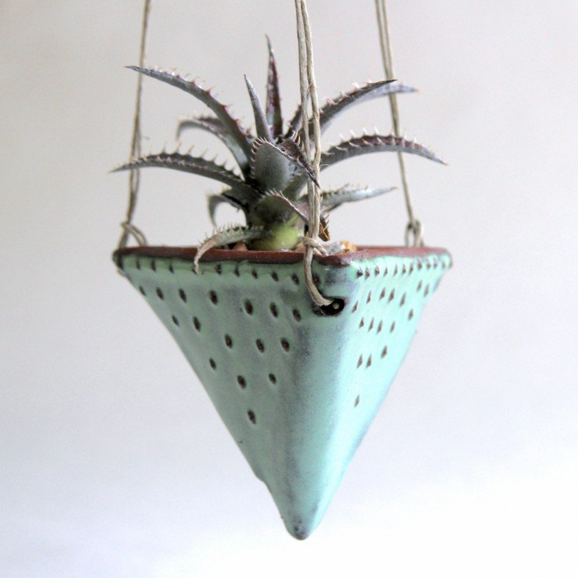 BackBayPottery - geometric hanging planter - Etsy tribal favorites | Oh Marie!