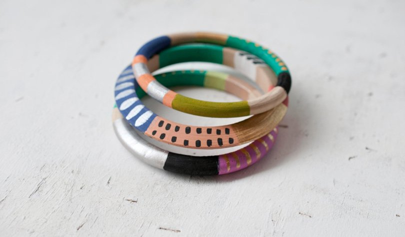 JillMakes - Skinny Bangles -FucshiaPeach Multi set - Etsy tribal favorites | Oh Marie!