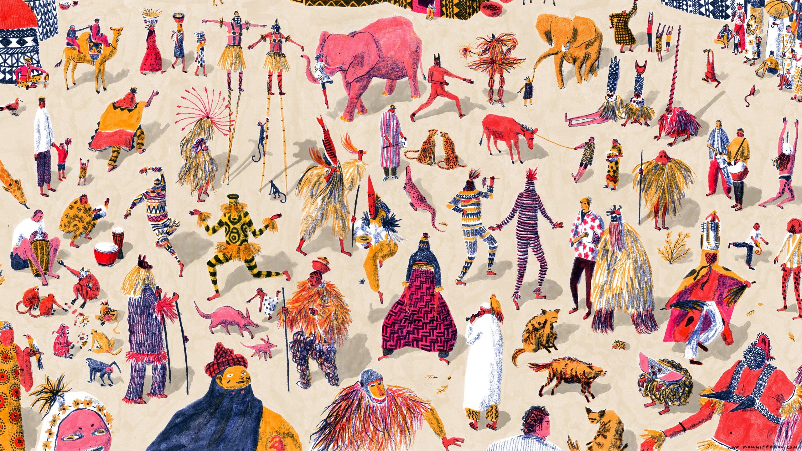 Wallpaper Mouni Feddag - Oh Marie!