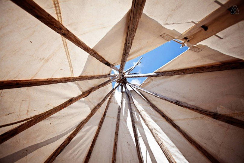 overnachten in een tipi - airbnb tips - amazing tipi Sioux-Lakota - OhMarie Tribe