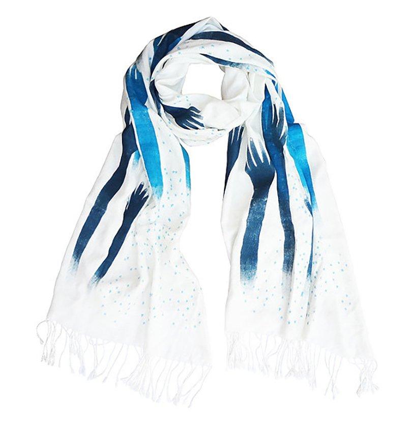 hand stalks hand-printed scarf - BonbiForest - Etsy - Petit Prince1