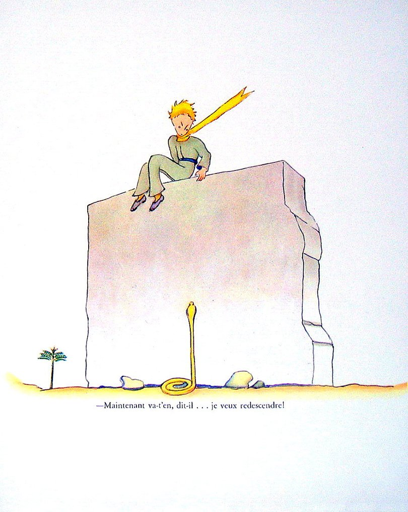 the little prince book page plate - mysunshinevintages - Etsy - Petit Prince