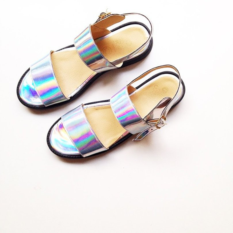 Olympia Faux Leather Sandals - goldenponies