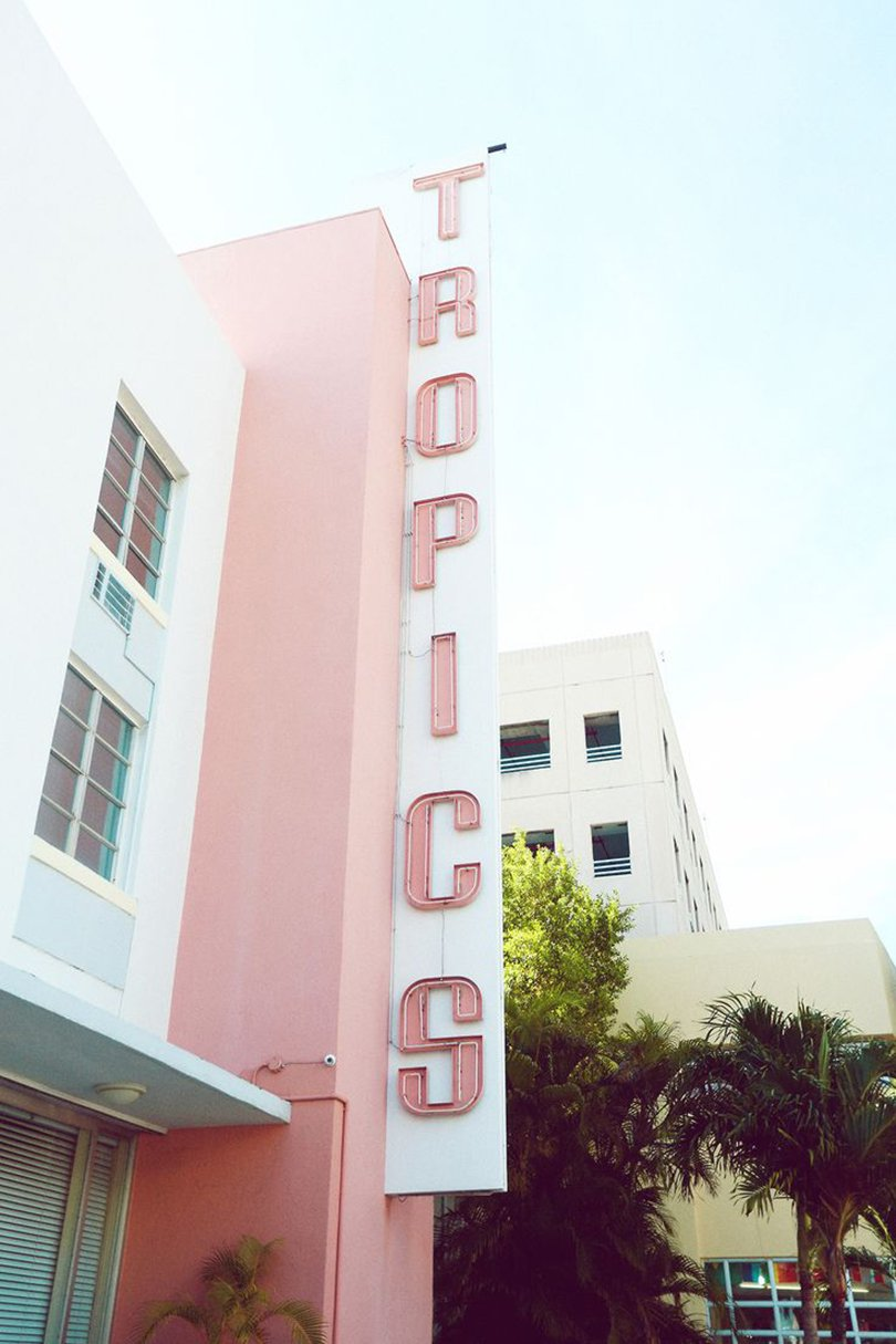 PINK TROPICS, by Emily Faulstich - Art Deco Miami - Oh Marie