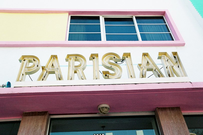 Photography by Emily Faulstich - sign Parisian - Art Deco Miami - Oh Marie