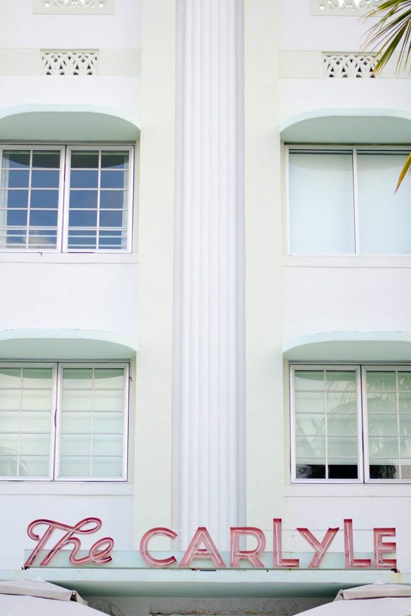 The Carlyle Hotel,. Miami Beach. Florida - Art Deco Miami - Oh Marie