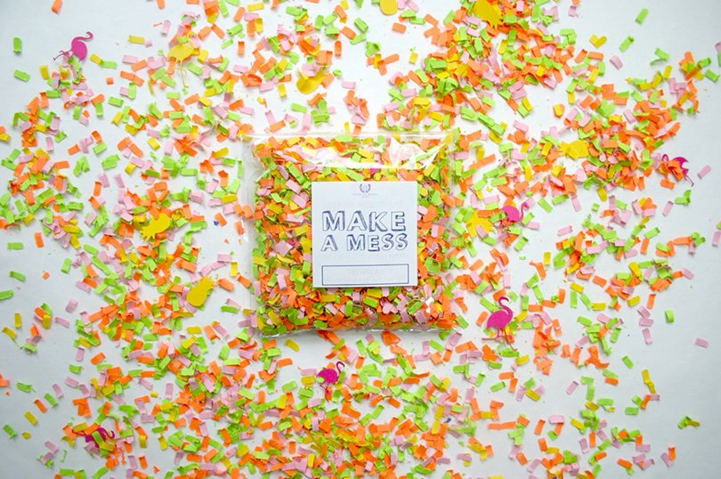tropical confetti by sweetashoneystudio on Etsy