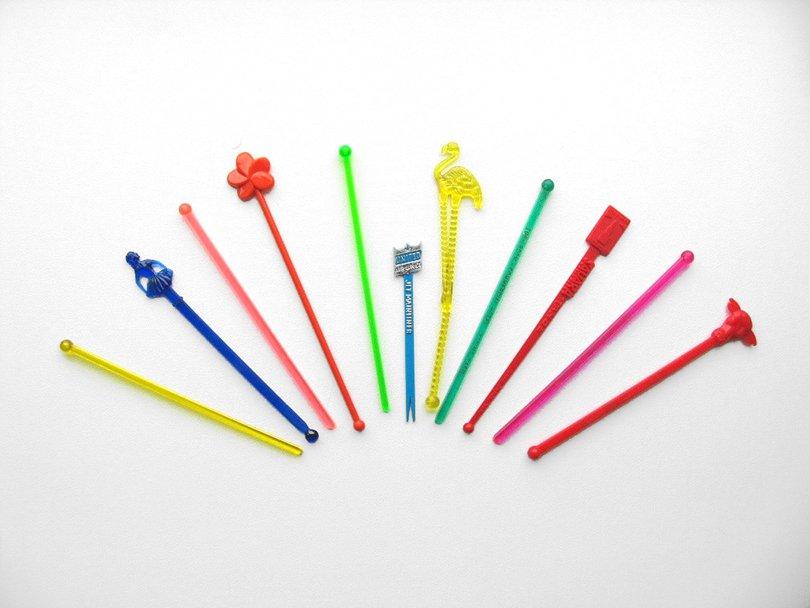 vintage swizzle sticks - DrewsMarbleBartop on Etsy