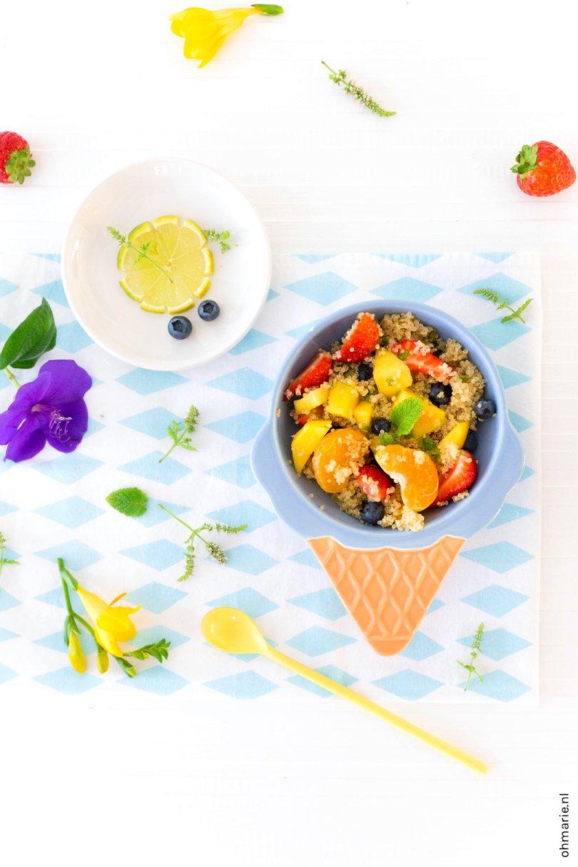 Quinoa fruitsalade - Oh Marie!