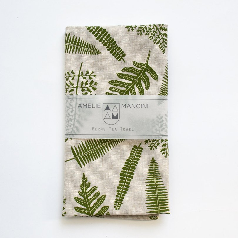 Ferns Tea Towel - AmelieMancini on Etsy