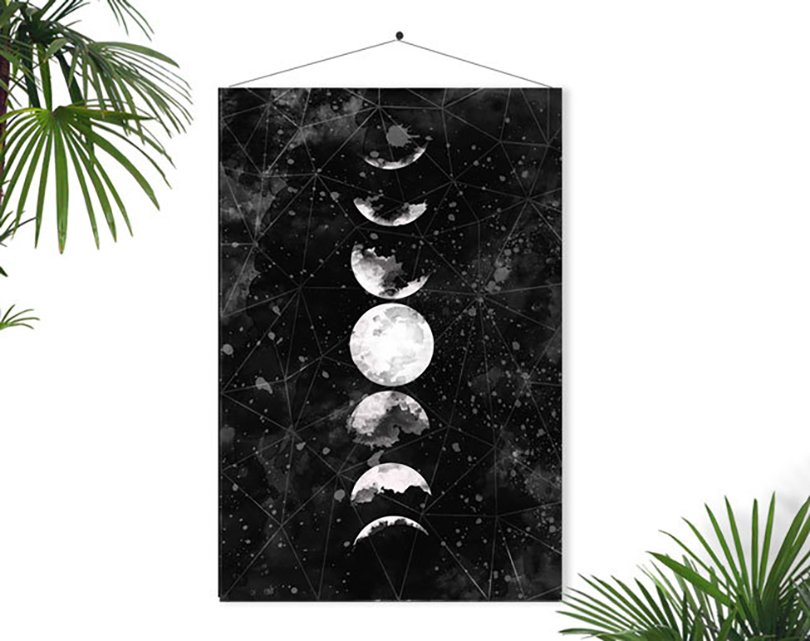 Moon Print - Fybur on Etsy