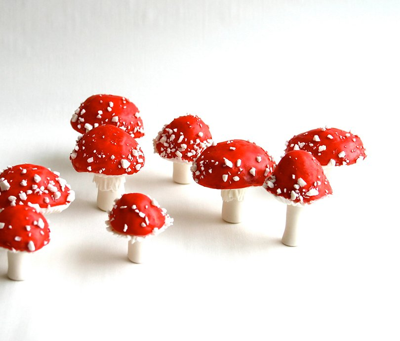 chocolate filled candy toadstools - andiespecialtysweets on etsy