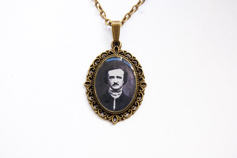 edgar allan poe necklace - Blingstopaythebills on etsy