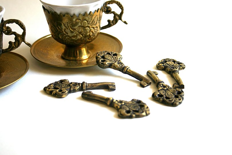 edible vintage skeleton keys - andiespecialtysweets on etsy