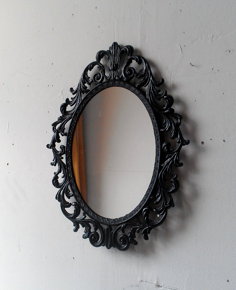 vintage gothic black mirror - SecretWindowMirrors on etsy1