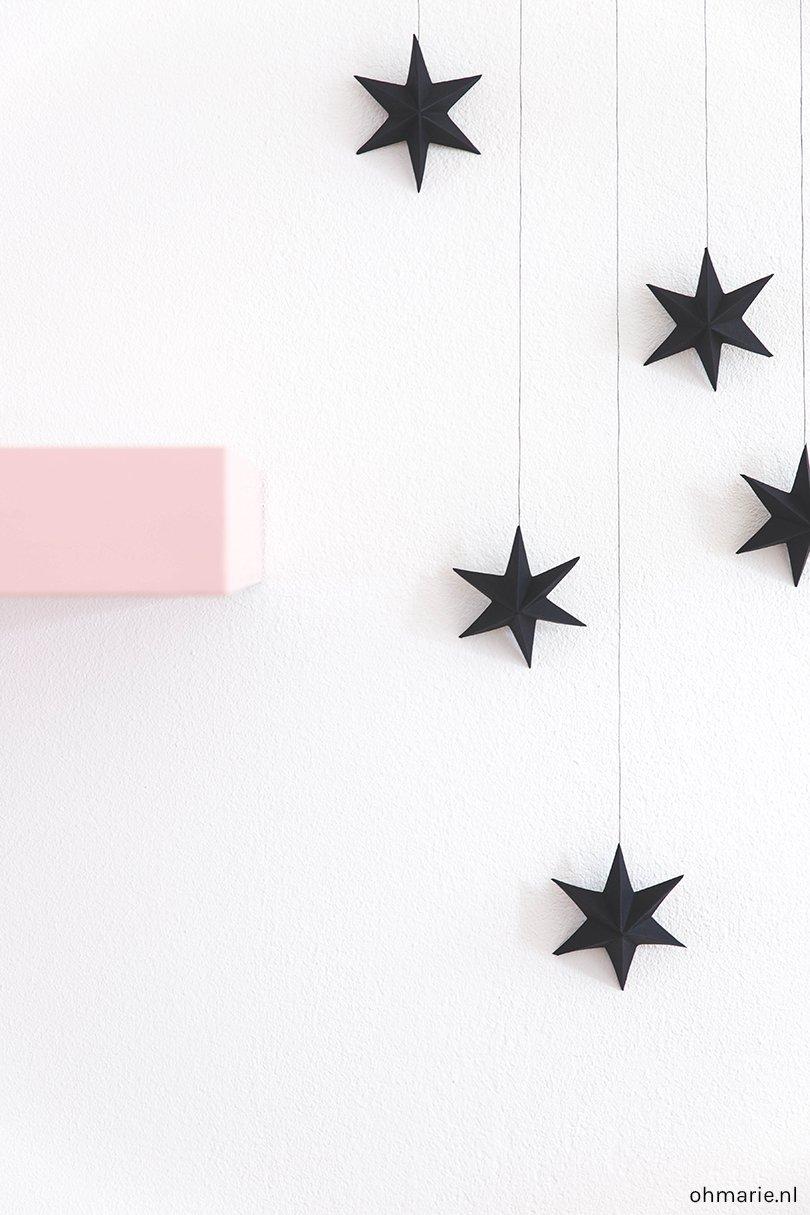 Papieren 3D sterren - Oh Marie!