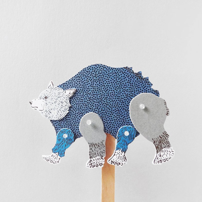 DIY Paper Puppet - BEAR - furzechan on etsy