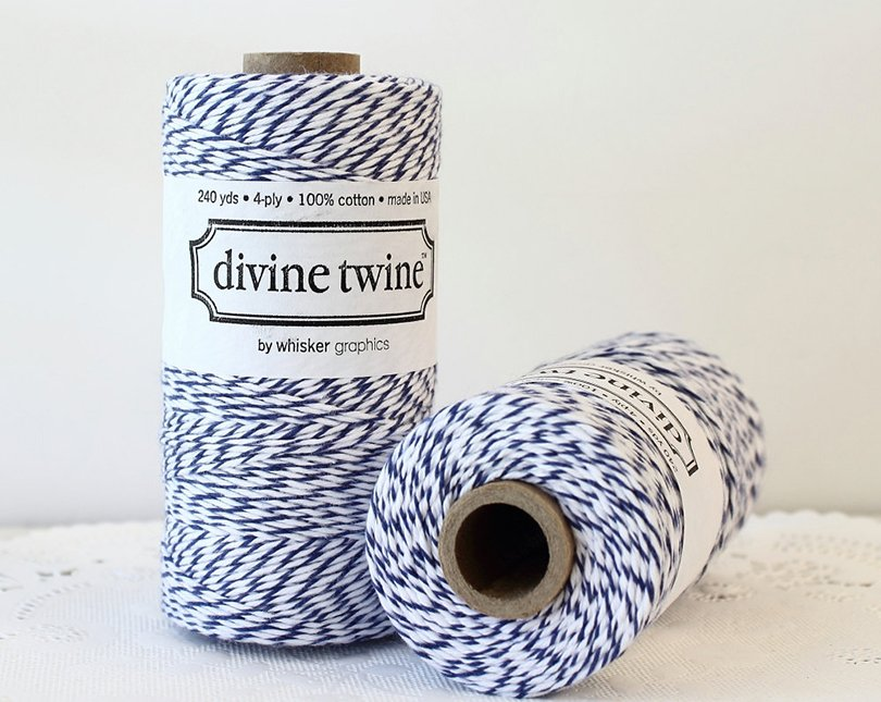 Navy Blue Bakers Twine - mailboxhappiness on etsy
