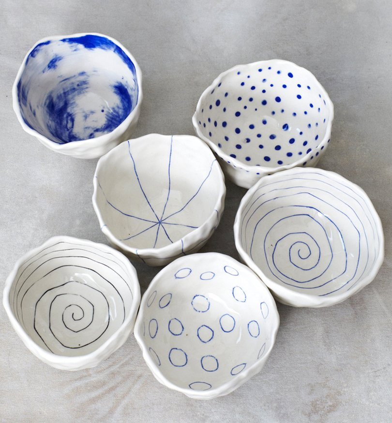 Porcelain Pinch Bowls - btwceramics on etsy