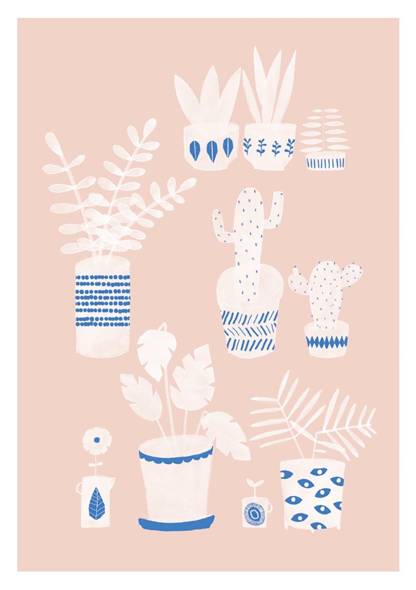 Pots & Plants print - studiomeez on etsy