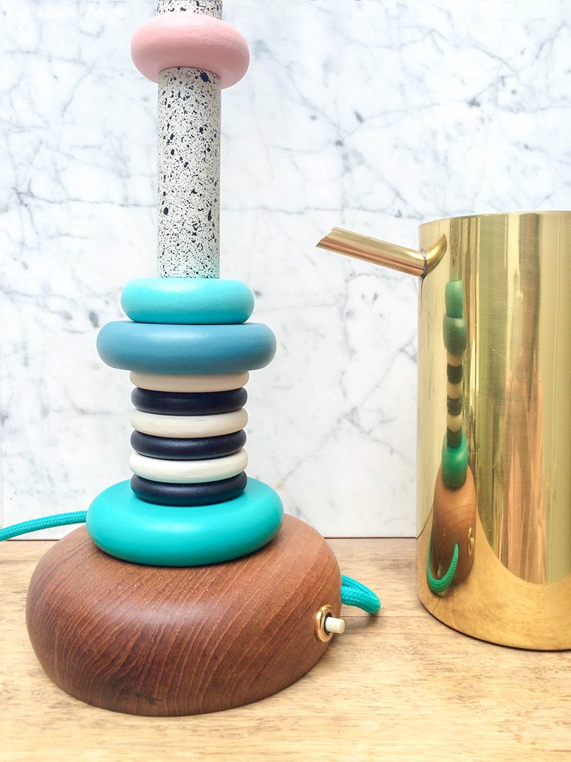 DIY Memphis lamp - Daphne Horstink - Oh Marie!