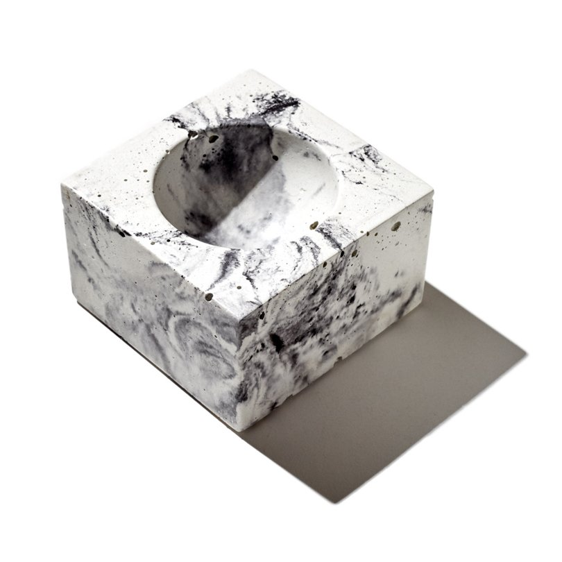 memphis style etsy finds - INSEKDESIGN - marble concrete bowl