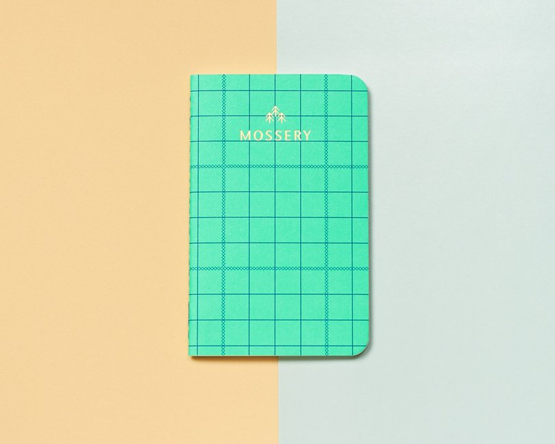 memphis style etsy finds - MosseryCo - grid pocket notebook
