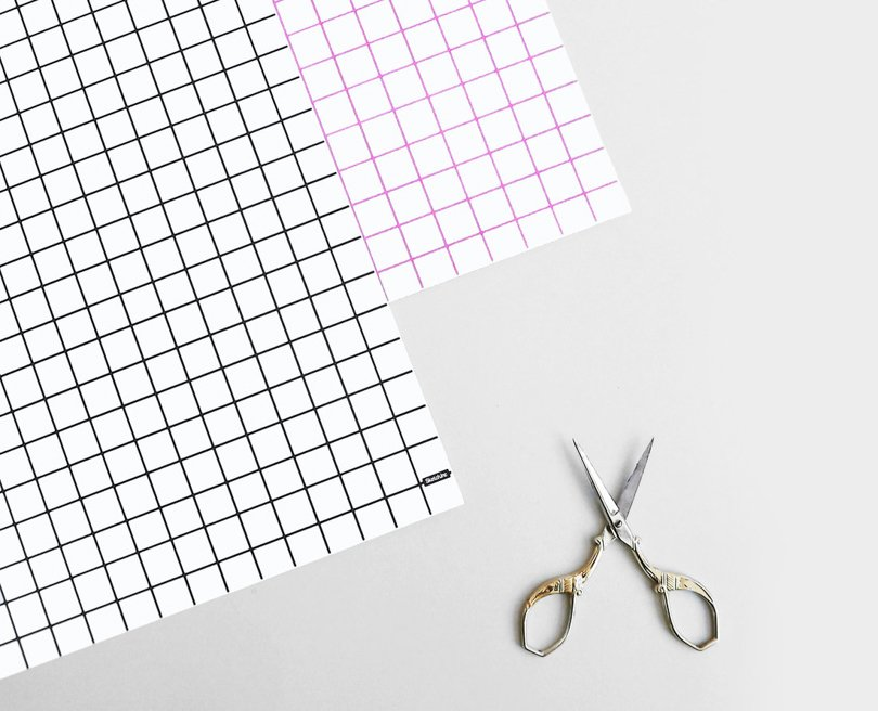 memphis style etsy finds - SketchInc - grid gift wrap