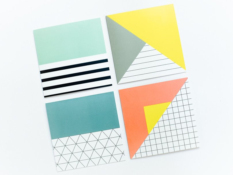memphis style etsy finds - niceniceniceDE - shape cards