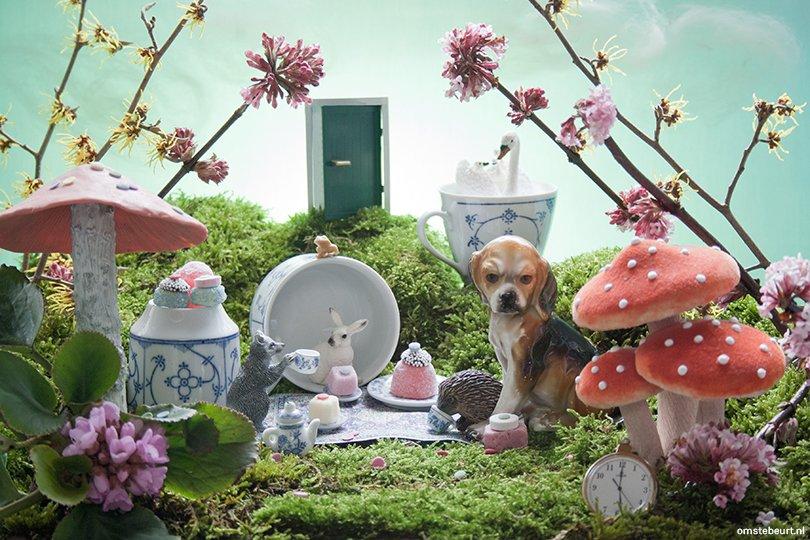 Diorama Alice in Wonderland - Omstebeurt voor Oh Marie!
