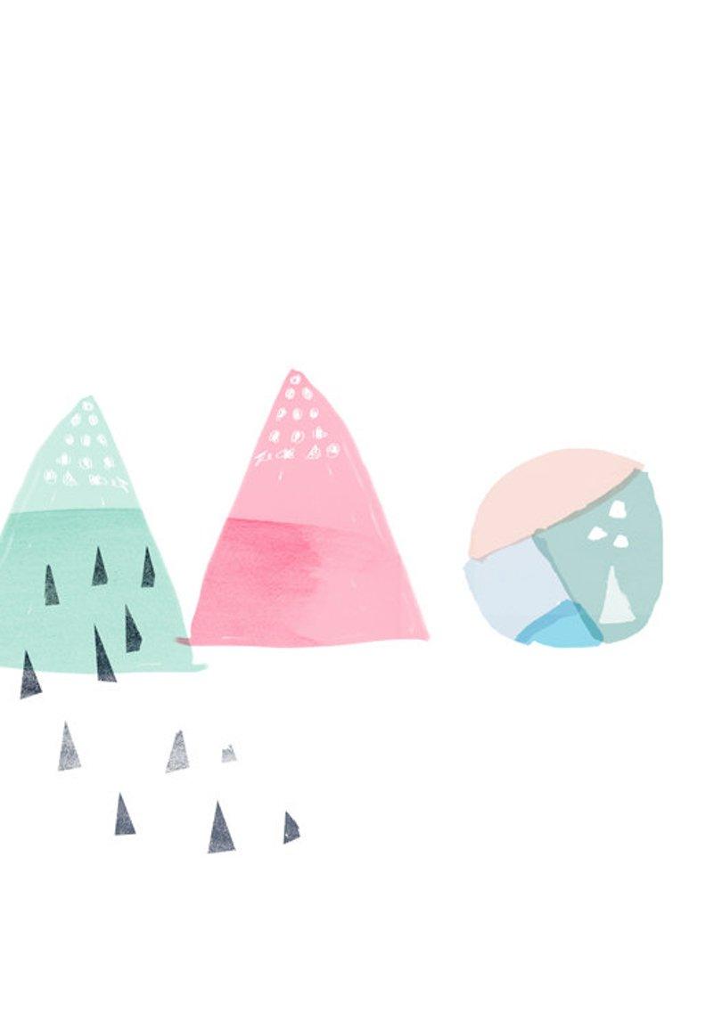 AMMIKI - abstract shapes print - Etsy