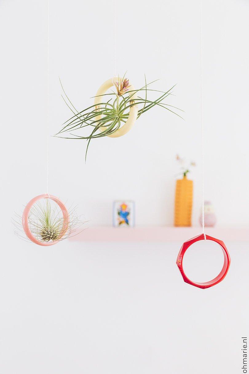 Plantenhanger met vintage armband - Oh Marie!