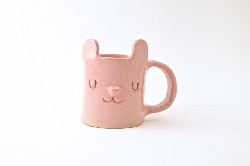 DesignForestUK - pink bear mug - Etsy