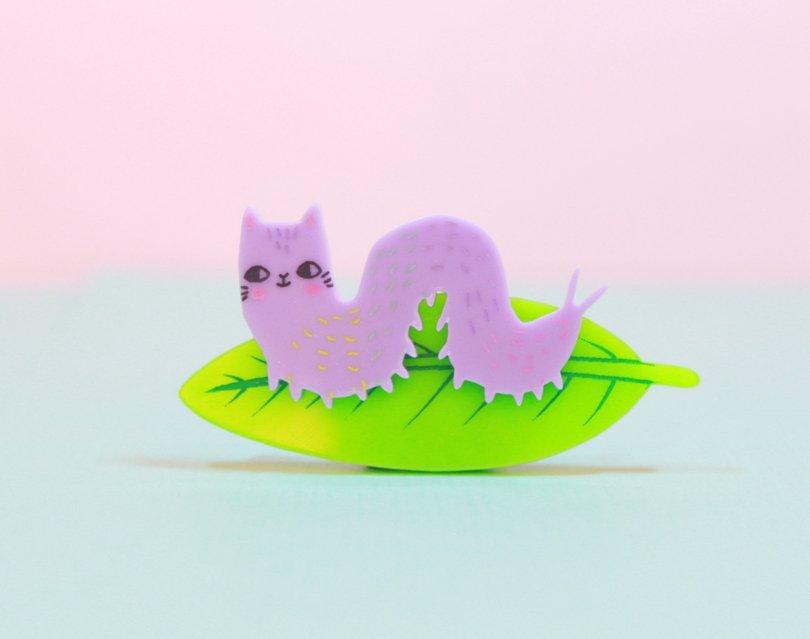 ILoveCrafty - caterpillar brooch - Etsy