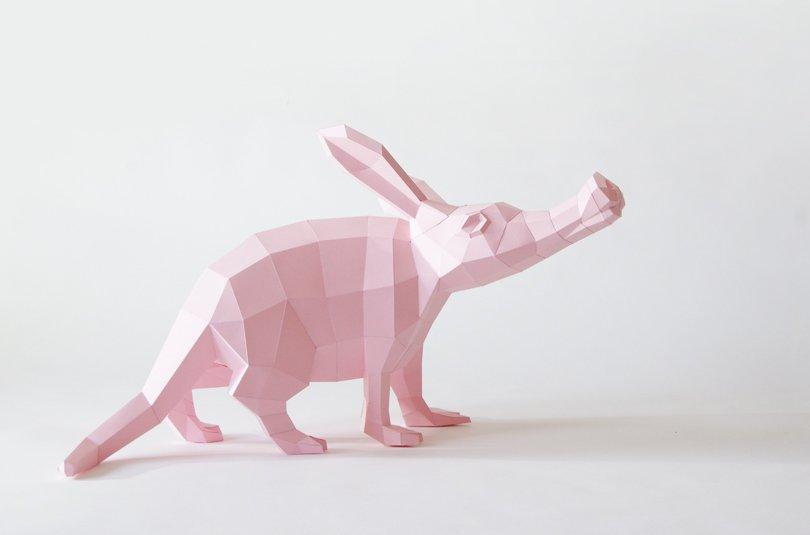 PaperwolfsShop - aardvark DIY papercraft - Etsy