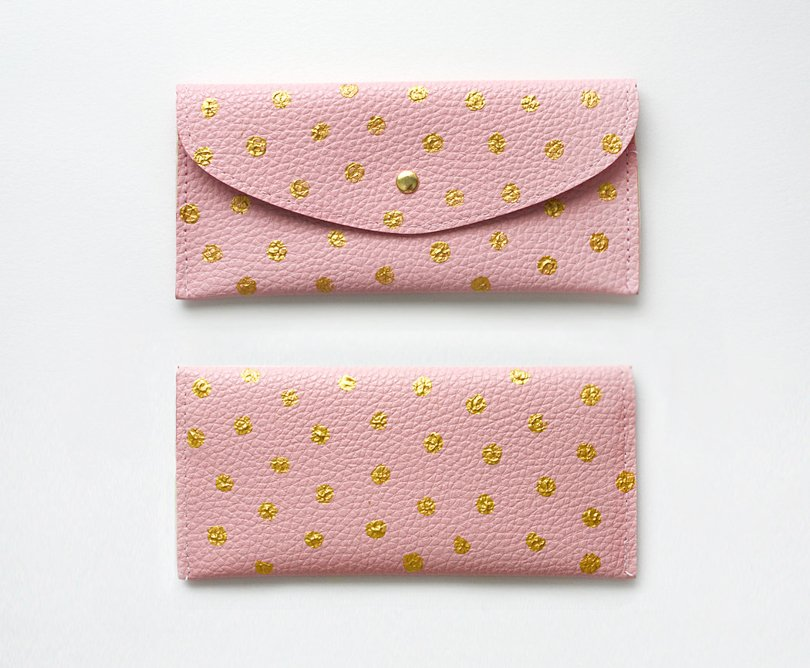 mcmannesspapergoods - handpainted polka dot clutch - Etsy
