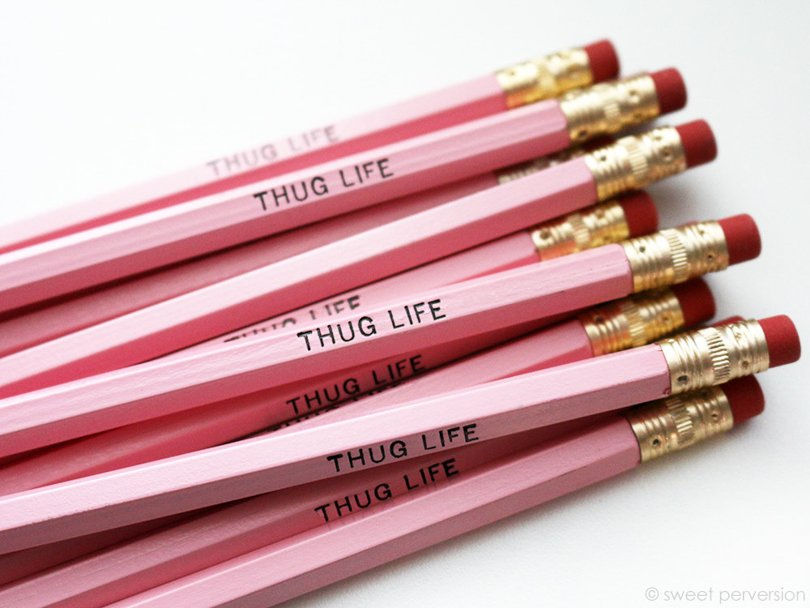 sweetperversion - pink pencils - Etsy