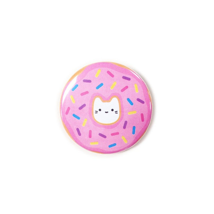 thesparklecollective - pink donut cat button - Etsy